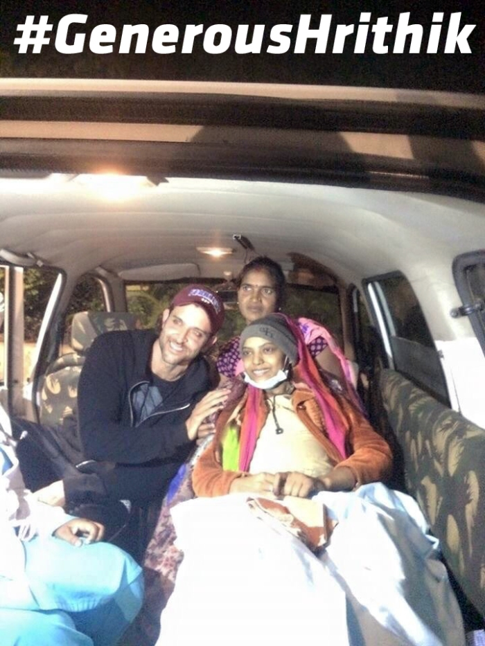Bollywood Superstar Hrithik Roshan With Cancer Patient Ankita At Jabalpur