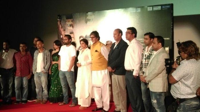 "Amitabh Bachchan, Vidya Balan, Sujoy Ghosh & Ribhu Das Gupta At ""TE3N"" Trailer Launch. May 05 2016 | Image Credits - DCC / Suraj"